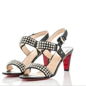 Bikee Bike Leather Sandals with Silver Studs